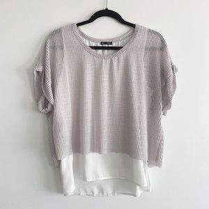 Zara dual layer top